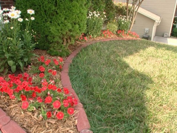 How to install brick edging for Edging flower beds with edger