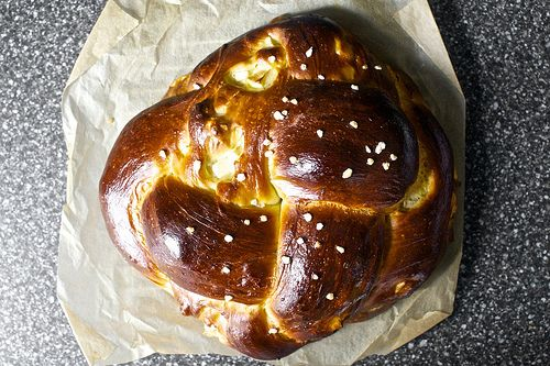 apple and honey challah (never seen it spelled with the two 'a's like...