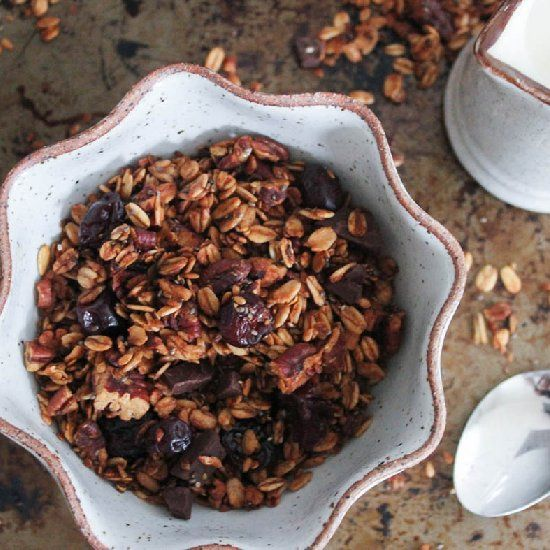 Dark Chocolate Cherry Granola | Recipes to Try | Pinterest
