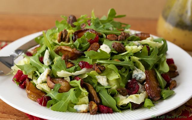 Roasted Pear Salad w/ Dried Cranberries, Gorgonzola, Sweet 'n Smoky ...