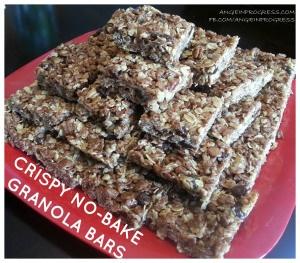 No bake granola bars!   Sweets   Pinterest