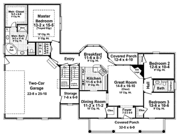 1600 Square Foot Ranch Floor Plan 736 x 569