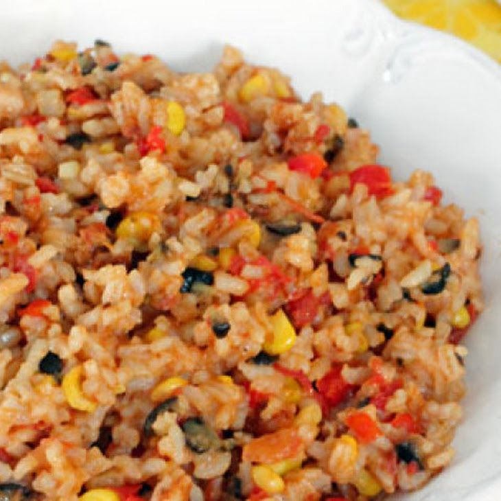 Cheesy Skillet Tex-Mex Rice Recipe | Recipes | Pinterest