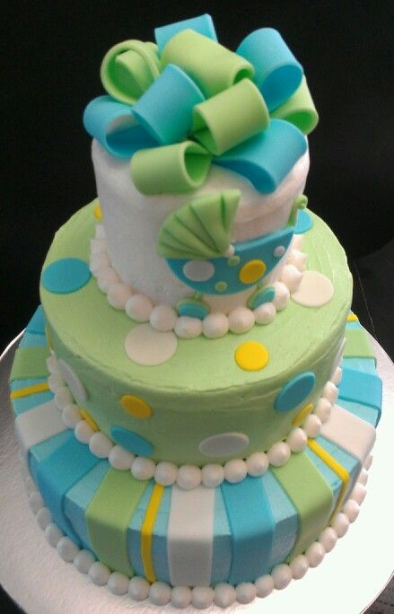 Images Of Baby Shower Cake For A Boy : Boy Baby shower cake Baby-Shower-Cakes Pinterest