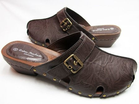 49.90-$65.00 Big & Tall Women Shoes Brown Slide-in Clogs - Alonai