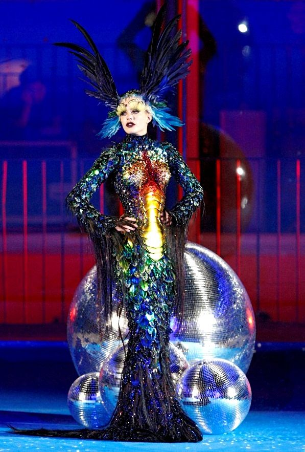 is a Thierry Mugler bedazzled creature for spring/summer 08