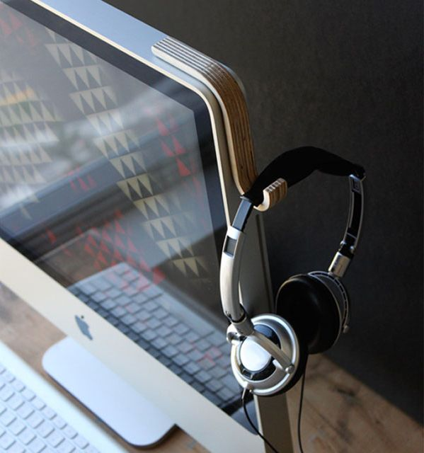iMac headphone holder