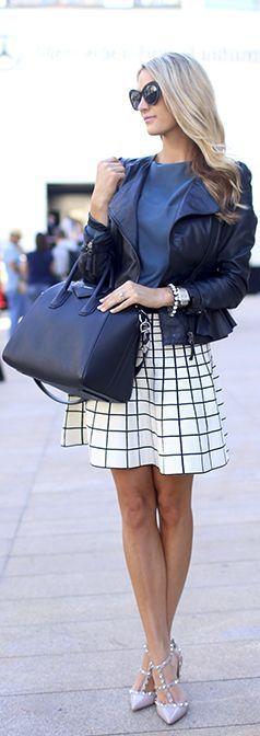Moto Jacket + Studded Heels