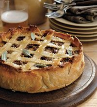 Sausage, Apple, and Cheese Pie | Breakfast Ideas - Savory | Pinterest