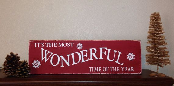 It 39 S The Most Wonderful Time Of The Year Christmas Wood Sign