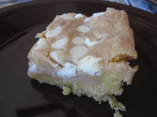 gooey white choc fluffernutter bars at what's for dinner
