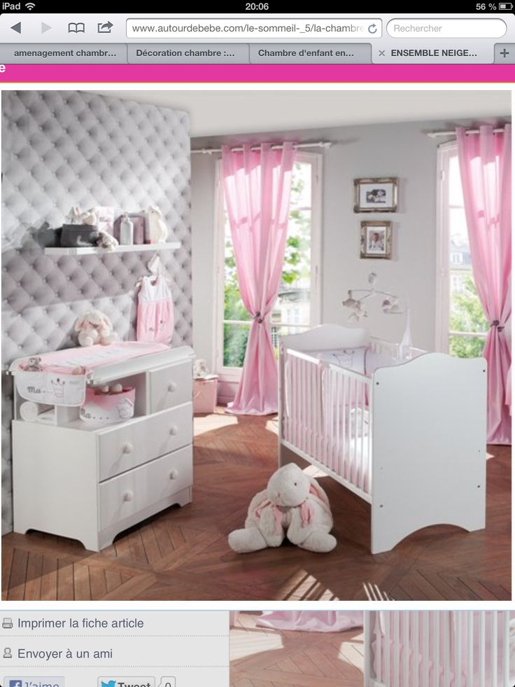 oser chambre bebe gris pink
