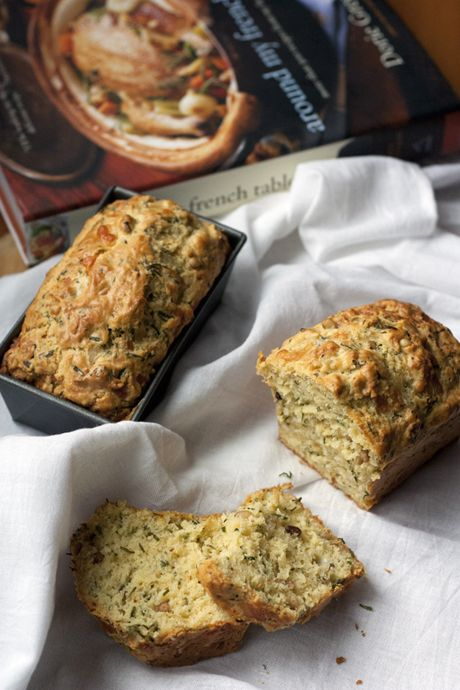 Savory Cheddar & Chive Bread- I wonder how these would be as muffins ...