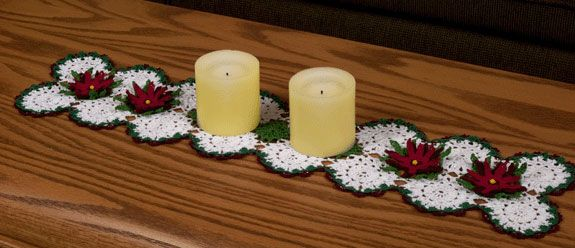 Free Crochet Patterns For Christmas Table Runners : Christmas Tree Table Runner Free Filet Crochet Pattern ...