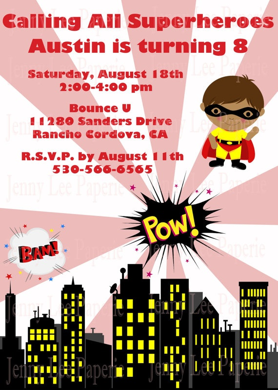 Calling all Superheroes. Great birthday invitation for your little ...