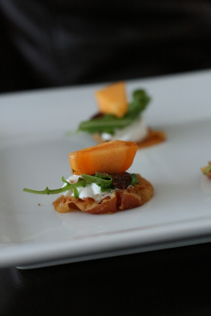 Week of Menus: Pancetta Crisps with Goat Cheese and Persimmons or ...