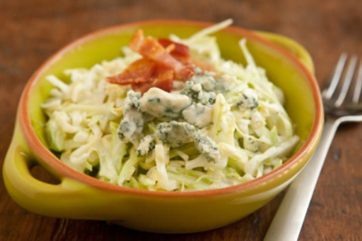 Creamy Coleslaw with Bacon and Blue Cheese Recipe