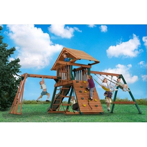 Backyard Play Systems Explorers Station Swing Set