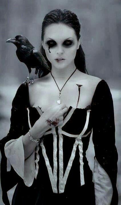 Dark Gothic Art Raven