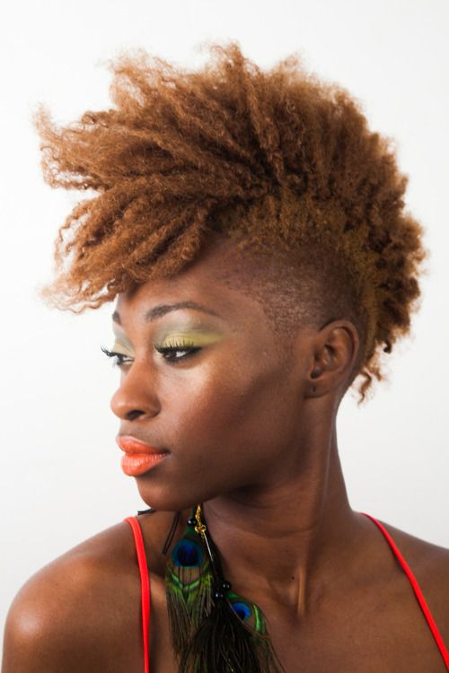 Natural hairstyle #Afro #side-shaved hairstyle #fade hairstyle