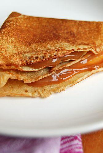 Dulce de leche crepes | Pastry | Pinterest