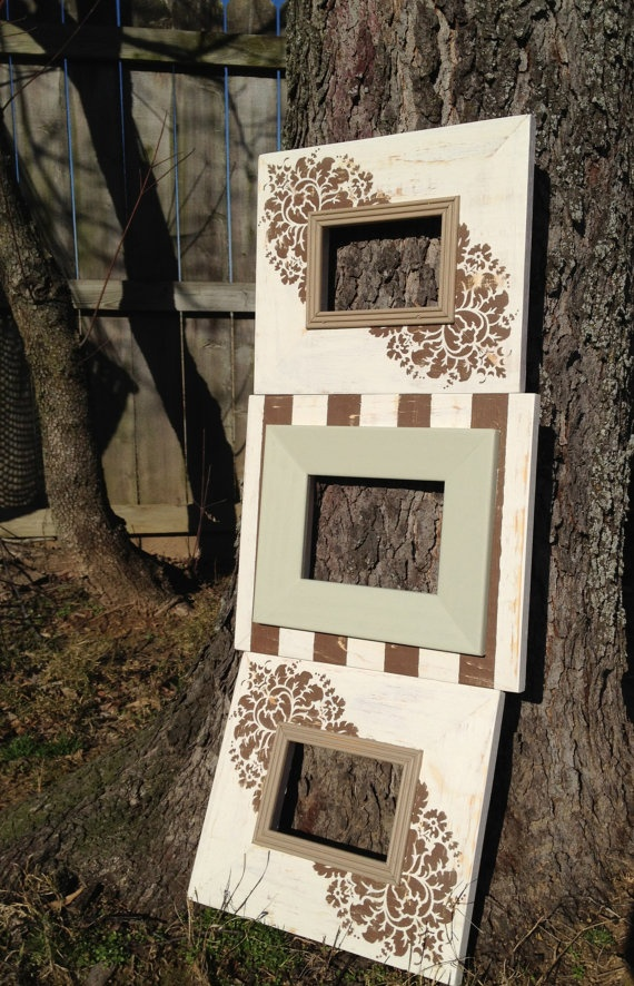 Grouping of 3 Mitered Frames by CMKFrames on Etsy, $85.00