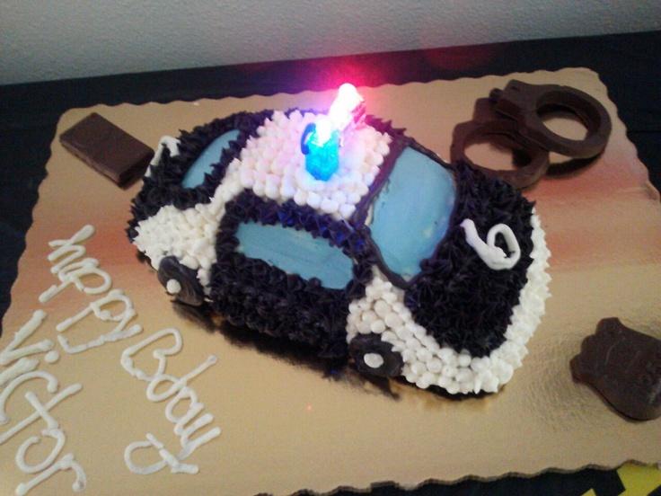 Police Car Cake Design : Police car cake Police Themed Birthday Party Pinterest
