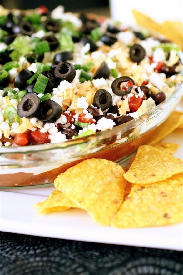 Layered Taco Dip   Food & Drinks :) Yummm   Pinterest