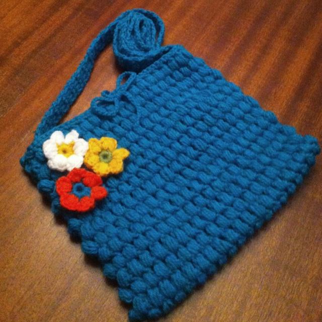 Puff stitch crochet bag. Crochet puff Pinterest