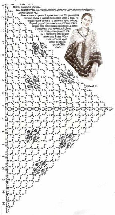 Косынка трансформер спицами схема