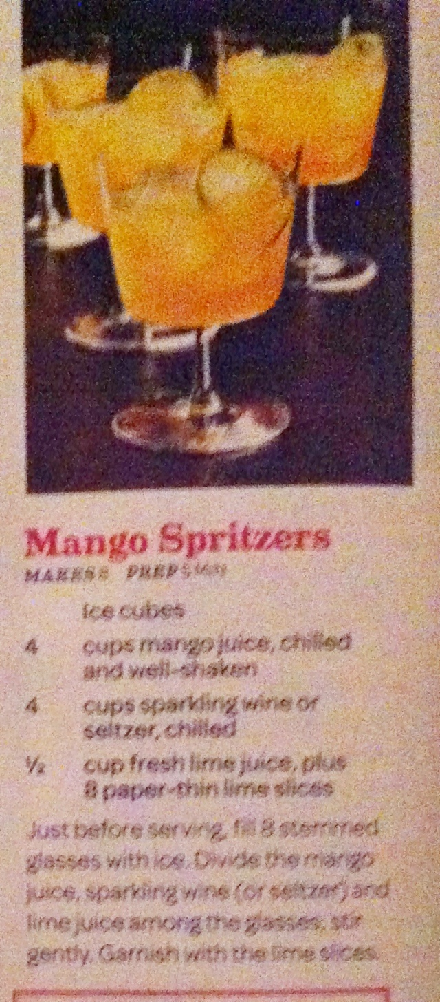 Mango spritzer | Recipes - Drinks | Pinterest