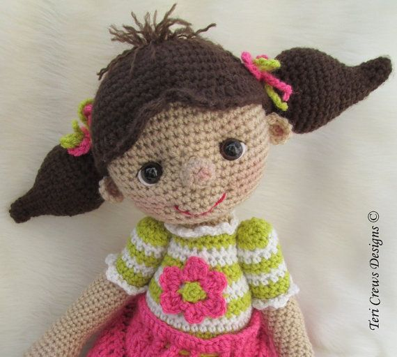 Crochet Pattern So Cute Dolly by Teri Crews by WoolandWhims, $5.95