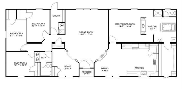 Clayton homes clayton homes 5 bedroom floor plans for 6 bedroom modular home floor plans