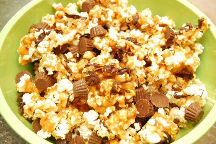 Chocolate Peanut Butter Popcorn | Food | Pinterest