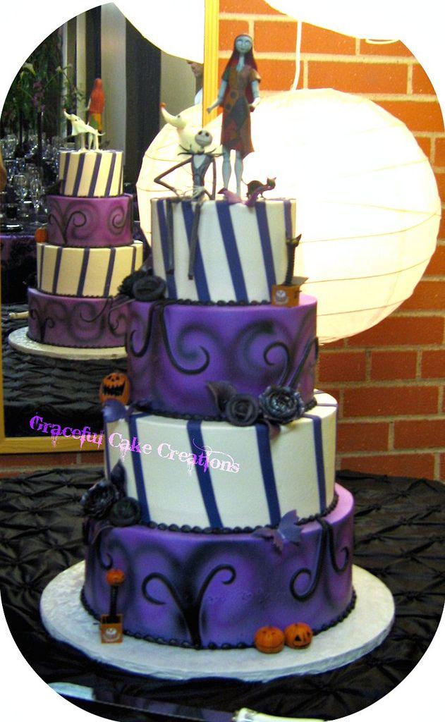 Nightmare Before Christmas Wedding Cake | Wedding Ideas | Pinterest