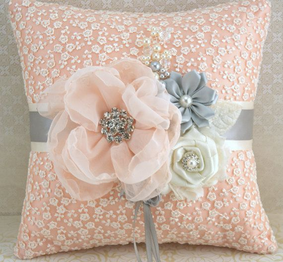 Ring Bearer Pillow Bridal Pillow Wedding Pillow in by SolBijou, $115.00