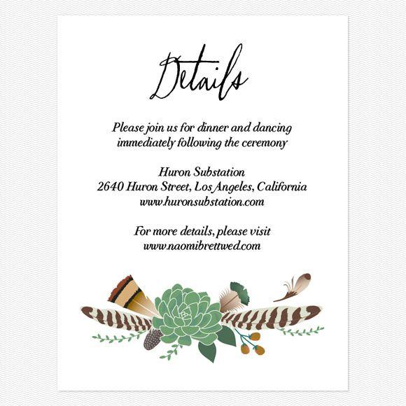 Wedding Gift Enclosure Card Wording : Bohemian Floral Enclosure cards //wedding theme: botanical Pinter ...