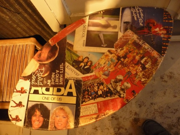 LP's covers table