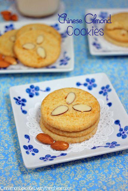 Chinese Almond Cookies http://www.cinnamonspiceandeverythingnice.com ...