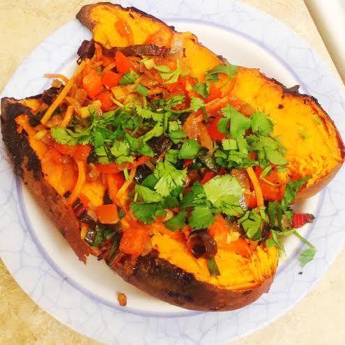 Curried Stuffed Baked Sweet Potatoes | Potato Patata | Pinterest