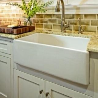 Granite Apron Front Sink : Apron front sink kitchen design Pinterest