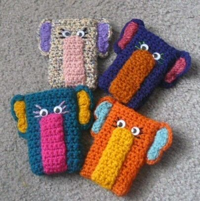 Crocheting Gadgets : Crochet Elephant Gadget Cozy by QuellyRueDesigns on Etsy