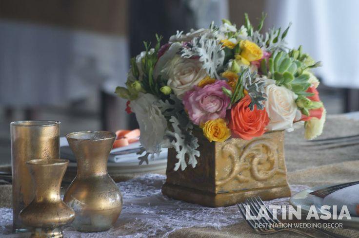 #rustic #centerpiece #decor by @Latin Asia Destination wedding decor