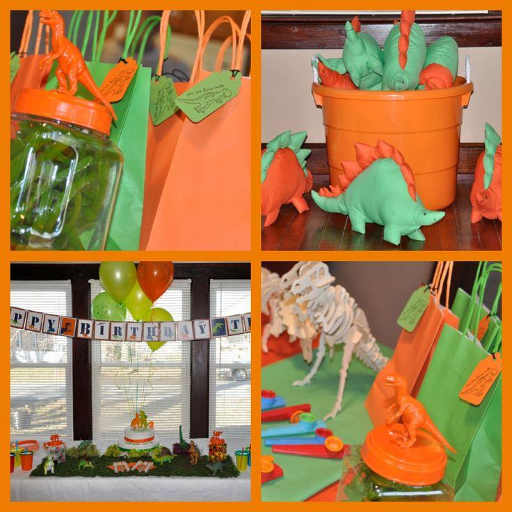 Dinosaur party decorations  Evans 3rd Birthday  Pinterest