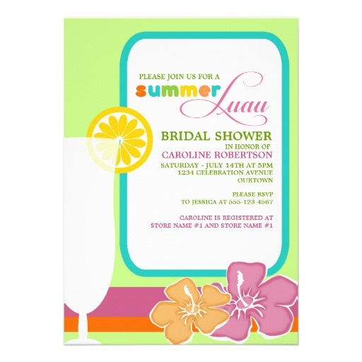 Summer Luau Bridal Shower Invitations #bridalshower #summer #luau # ...