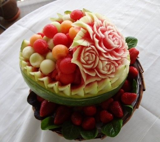 Mother s day fruit carving food art pinterest