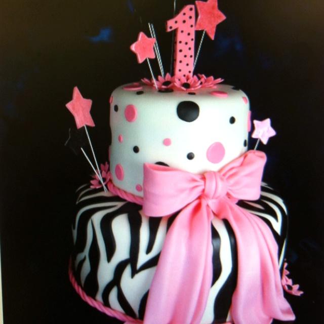 Baby girl's 1st bday cake!!