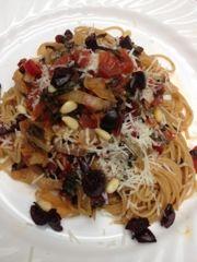 ... My Family: Whole-Wheat Spaghetti With Swiss Chard And Pecorino Cheese
