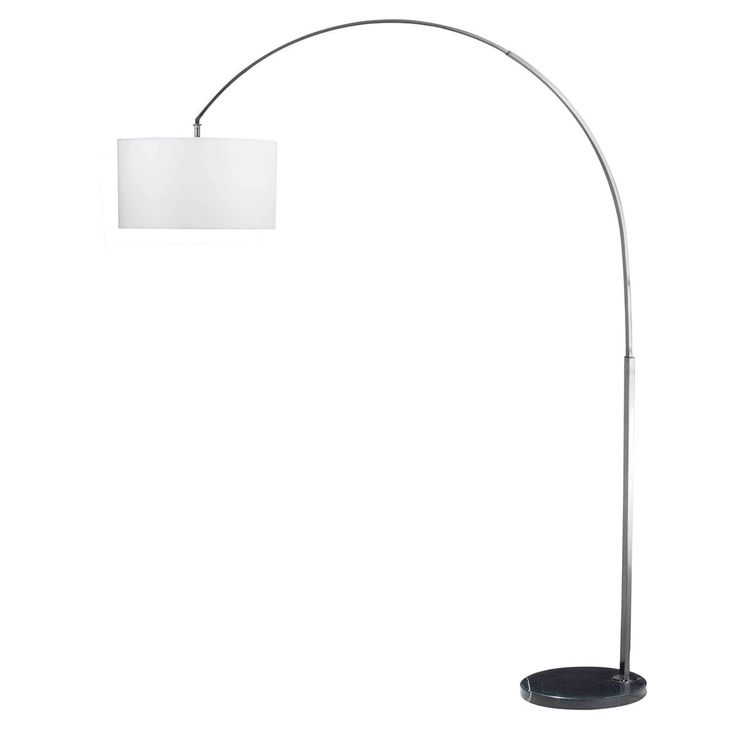 drum shade arc floor lamp for family room. Black Bedroom Furniture Sets. Home Design Ideas