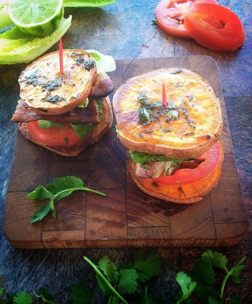 Cilantro lime sweet potato sliders! | Paleo | Pinterest